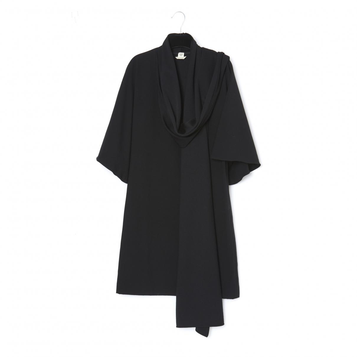 Hermes - Robe   pour femme en laine - noir