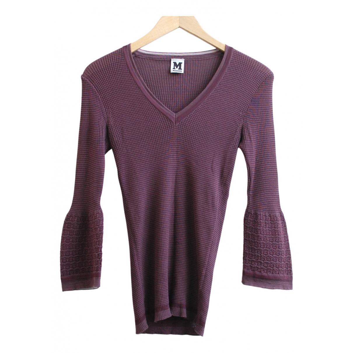 M Missoni - Pull   pour femme en laine - violet