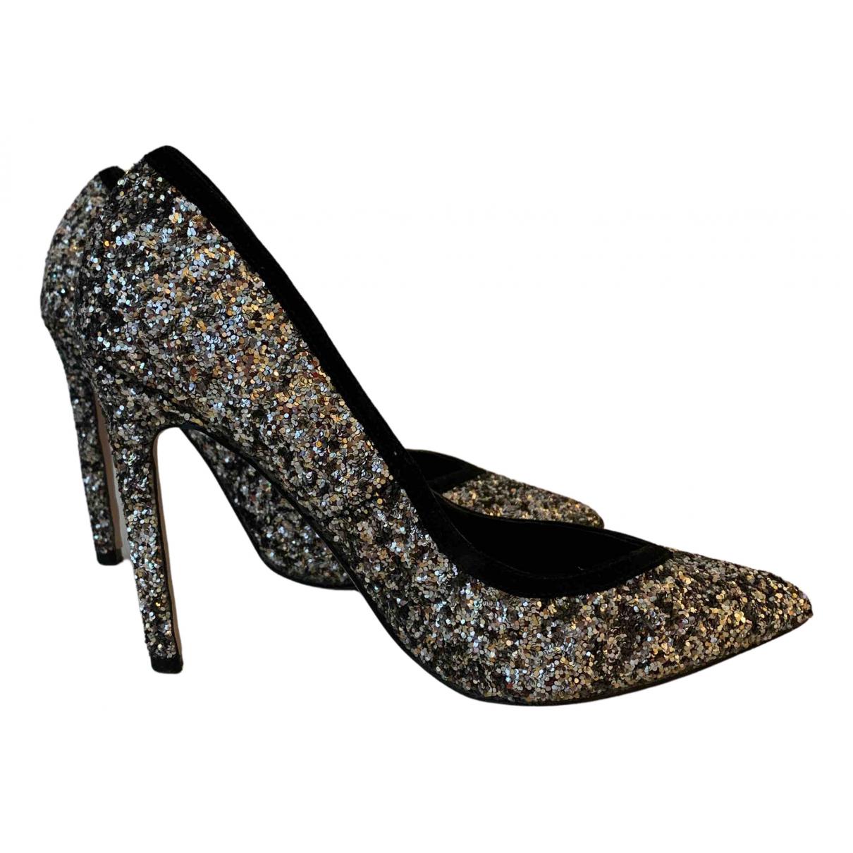 Asos N Silver Glitter Heels for Women 6.5 US