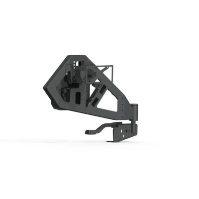 Road Armor Stealth Rear Tire Carrier (Satin Black) - 518RTC0B