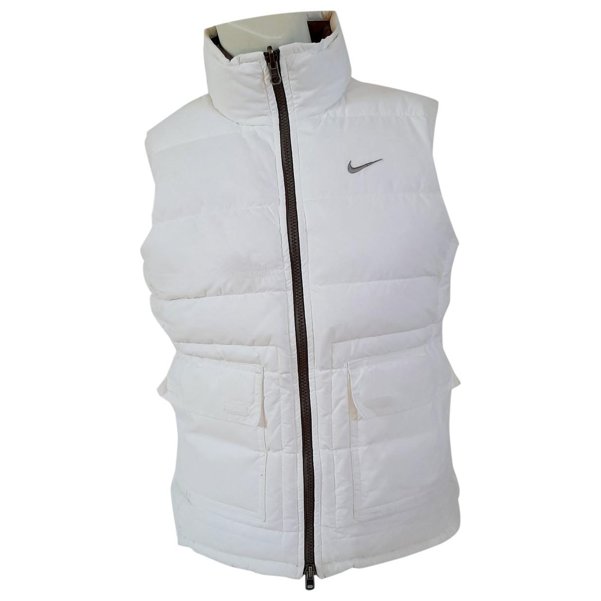 Nike \N Jacke in  Weiss Synthetik