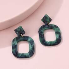 Geo Drop Earrings
