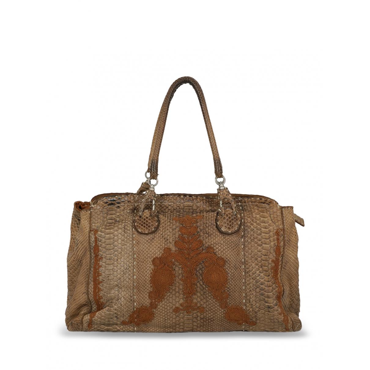 Ermanno Scervino \N Brown Leather handbag for Women \N