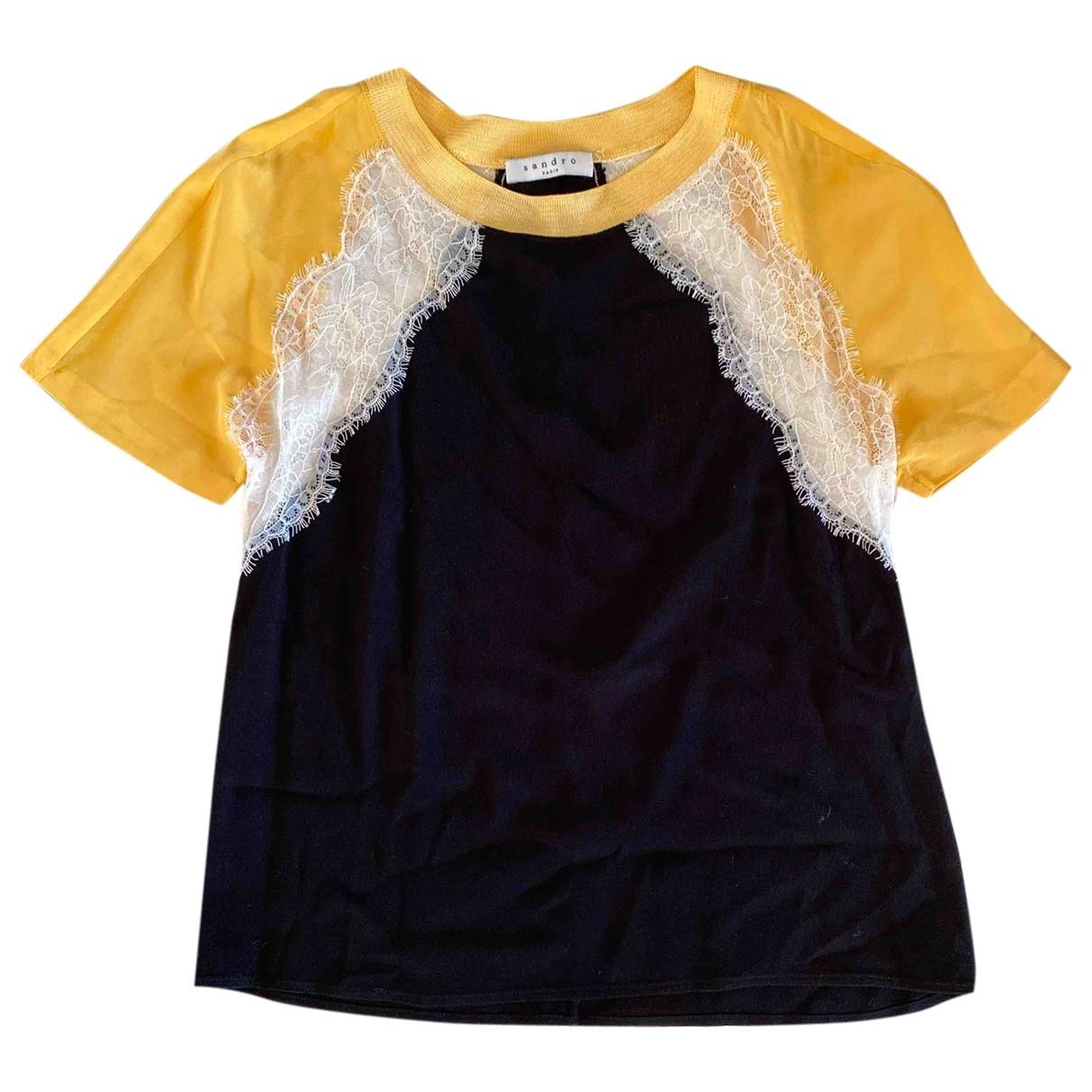 Sandro \N Black Silk  top for Women 36 FR