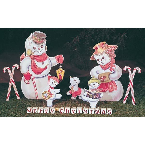 Woodworking Project Paper Plan to Build Snow Family, Plan No. C6