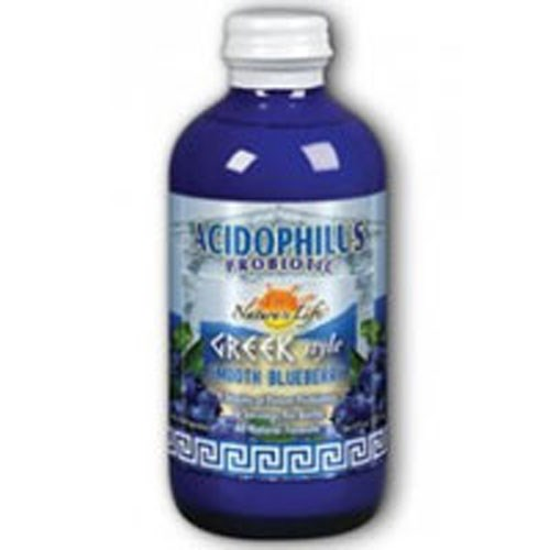 Liquid Acidophilus Probiotic Greek Style-Smooth Smooth Blueberry, 8 OZ by Nature's Life