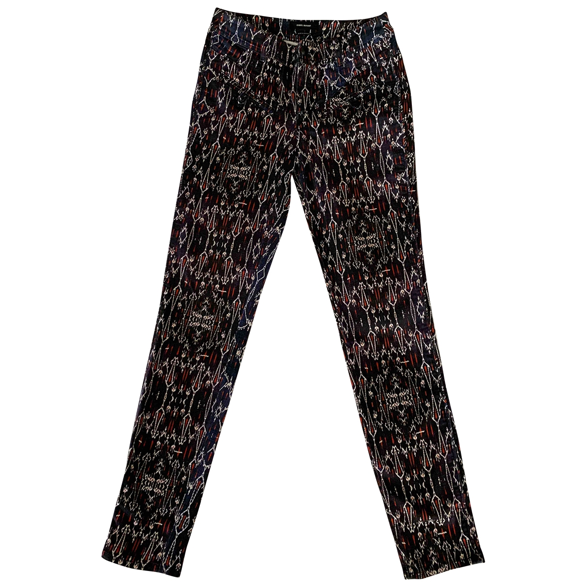Isabel Marant \N Blue Cotton Trousers for Women 40 FR