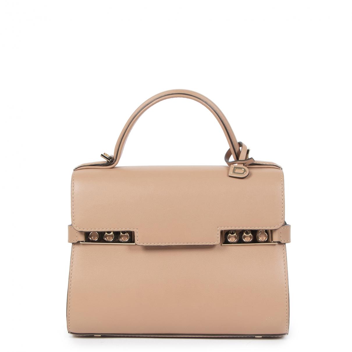 Delvaux Tempête Beige Leather handbag for Women \N