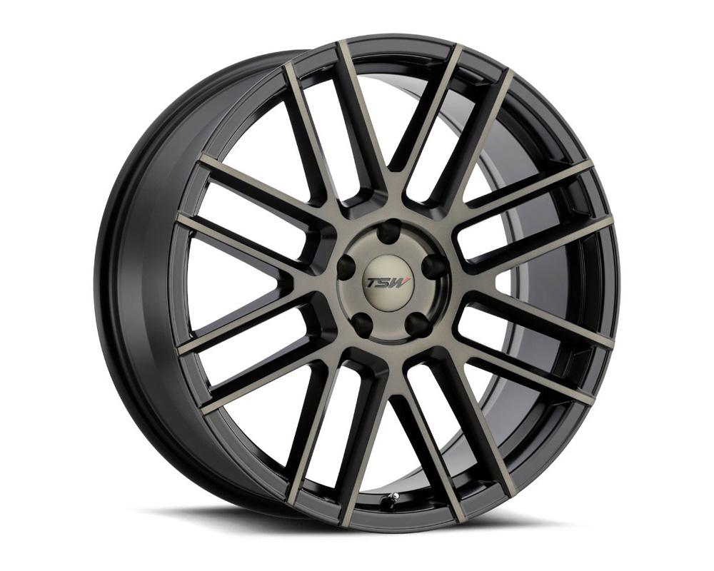 TSW Mosport Wheel 18x8.5 5x114.3 40mm Matte Black w/ Machine Face & Dark Tint