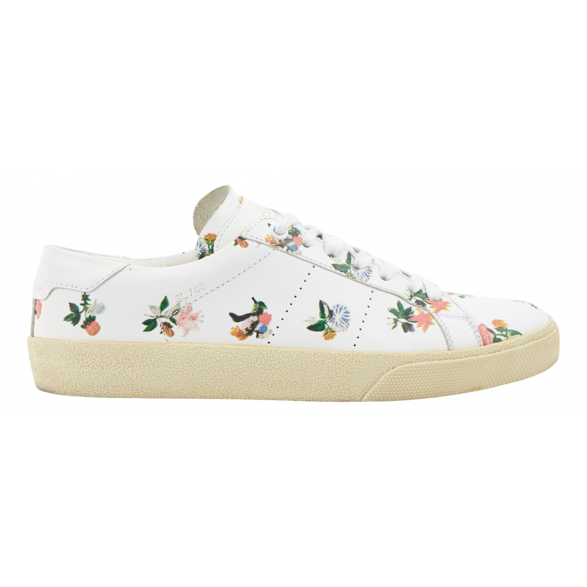 Saint Laurent N White Leather Trainers for Women 37 EU