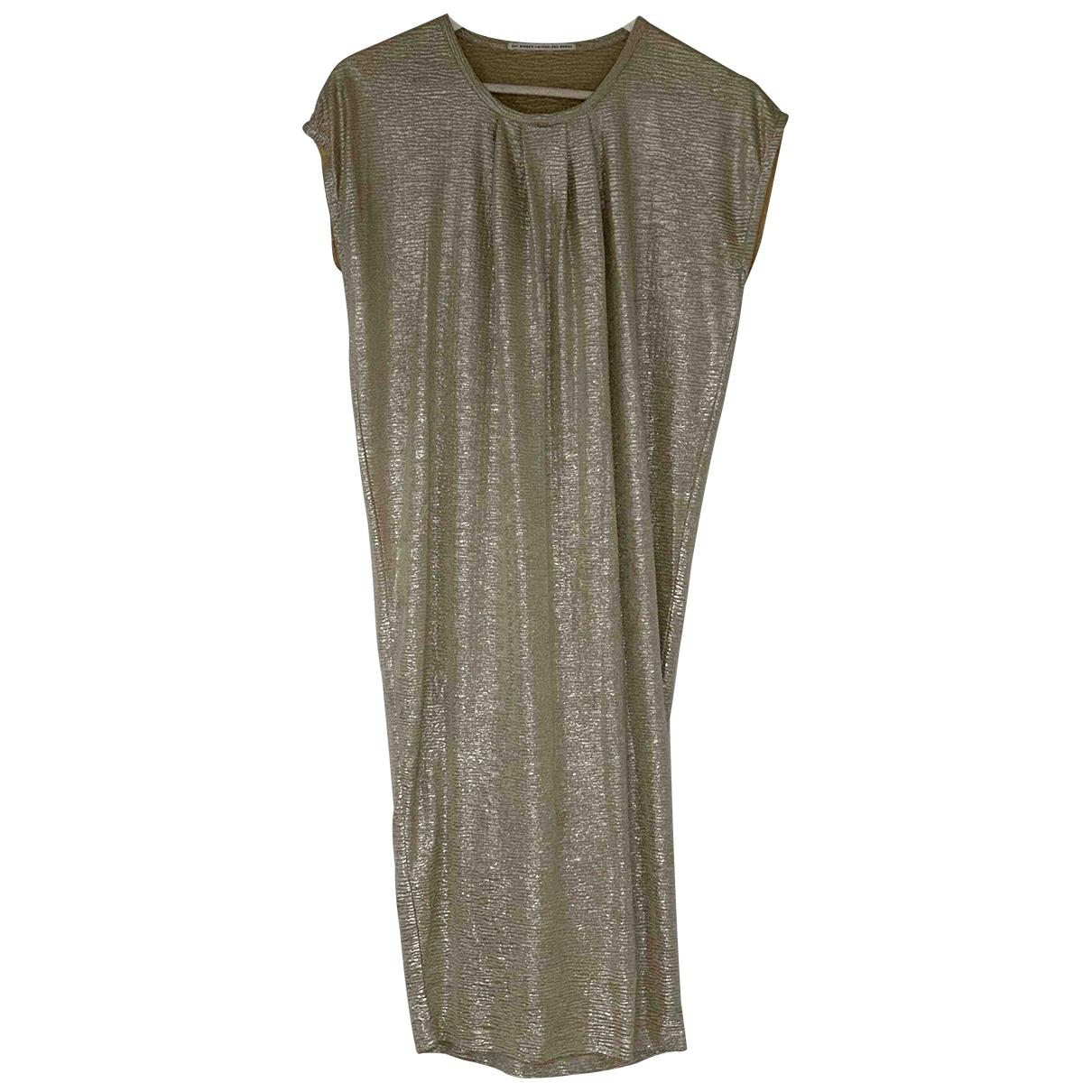 Day Birger & Mikkelsen - Robe   pour femme en coton - elasthane - dore