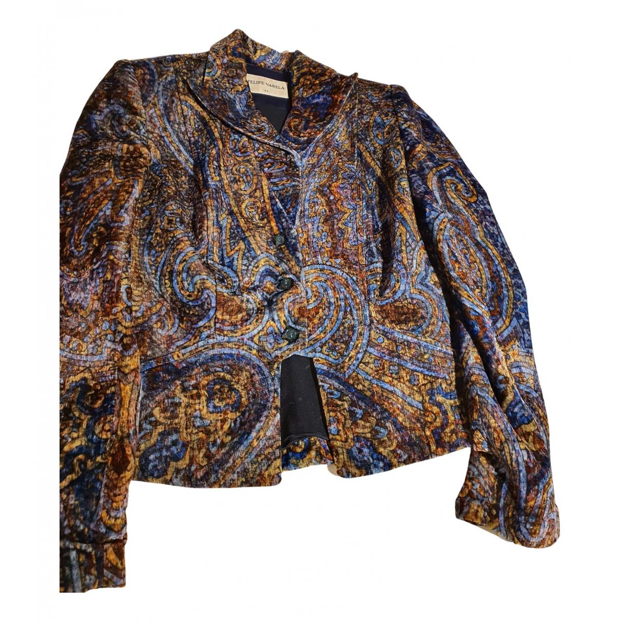 - Veste   pour femme en velours - bleu