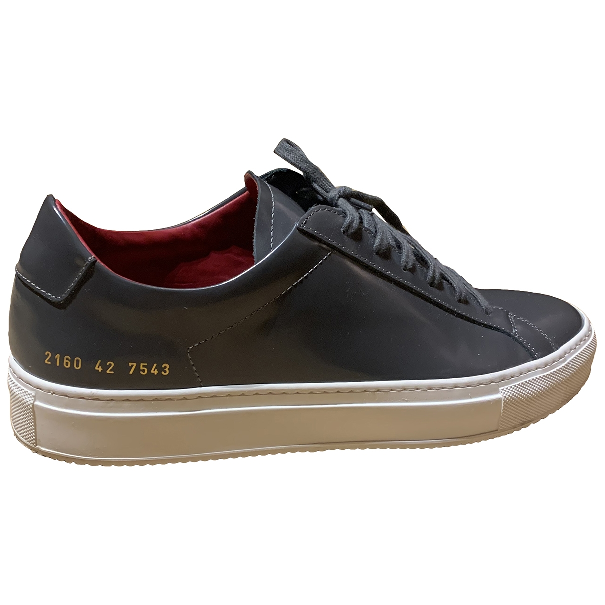 Common Projects \N Anthracite Leather Trainers for Men 42 EU