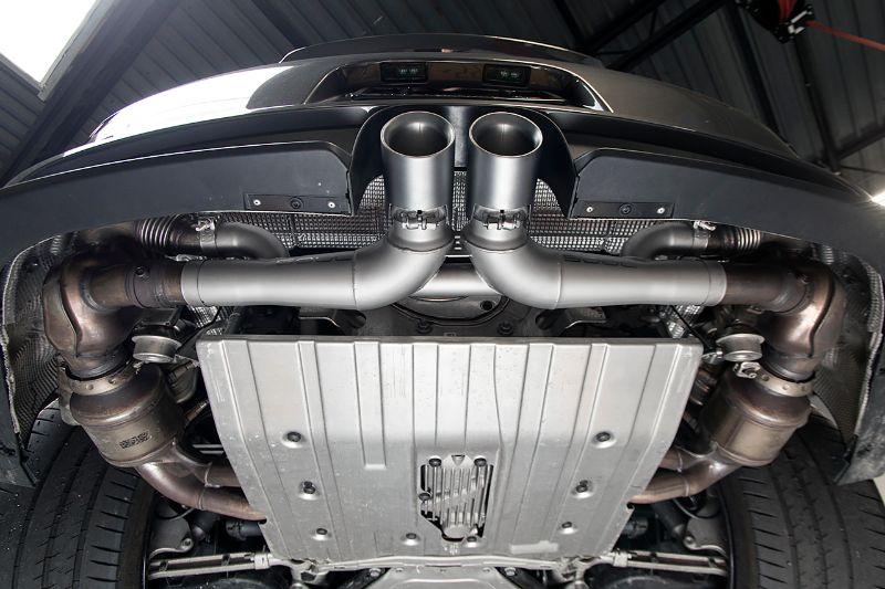 Soul Performance GT3 Center Muffler Bypass Exhaust 3.5 Inch Carbon Fiber Tips  Porsche 991.1 GT3 | GT3 RS 14-16