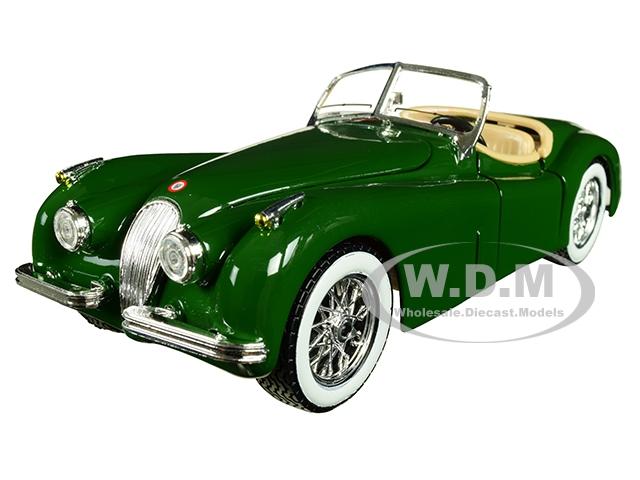 1951 Jaguar XK 120 Roadster Green 1/24 Diecast Model Car by Bburago