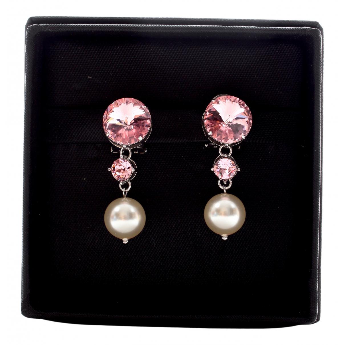 Miu Miu - Boucles doreilles   pour femme en cristal - rose