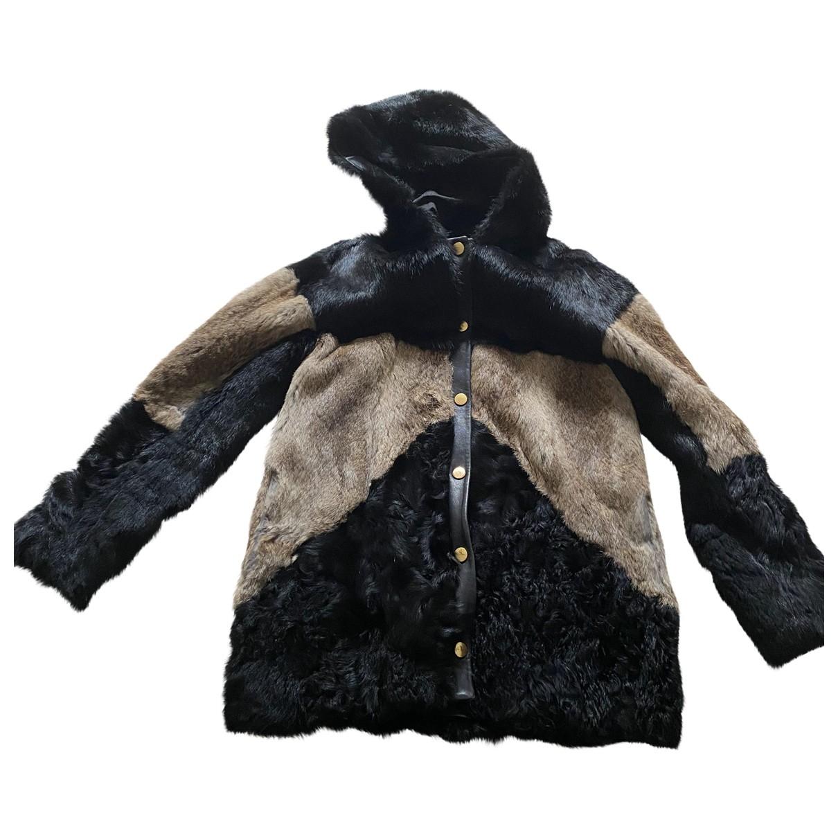 Maje \N Multicolour Rabbit coat for Women 40 FR