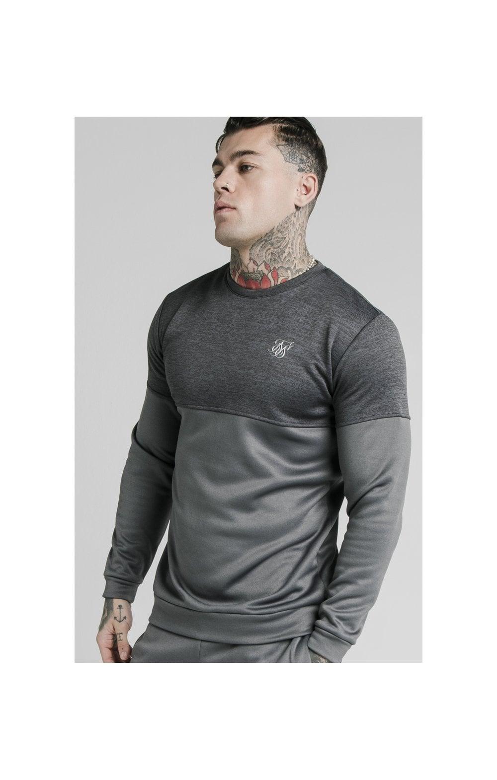 SikSilk Cut & Sew Sweater - Grey MEN SIZES TOP: Small
