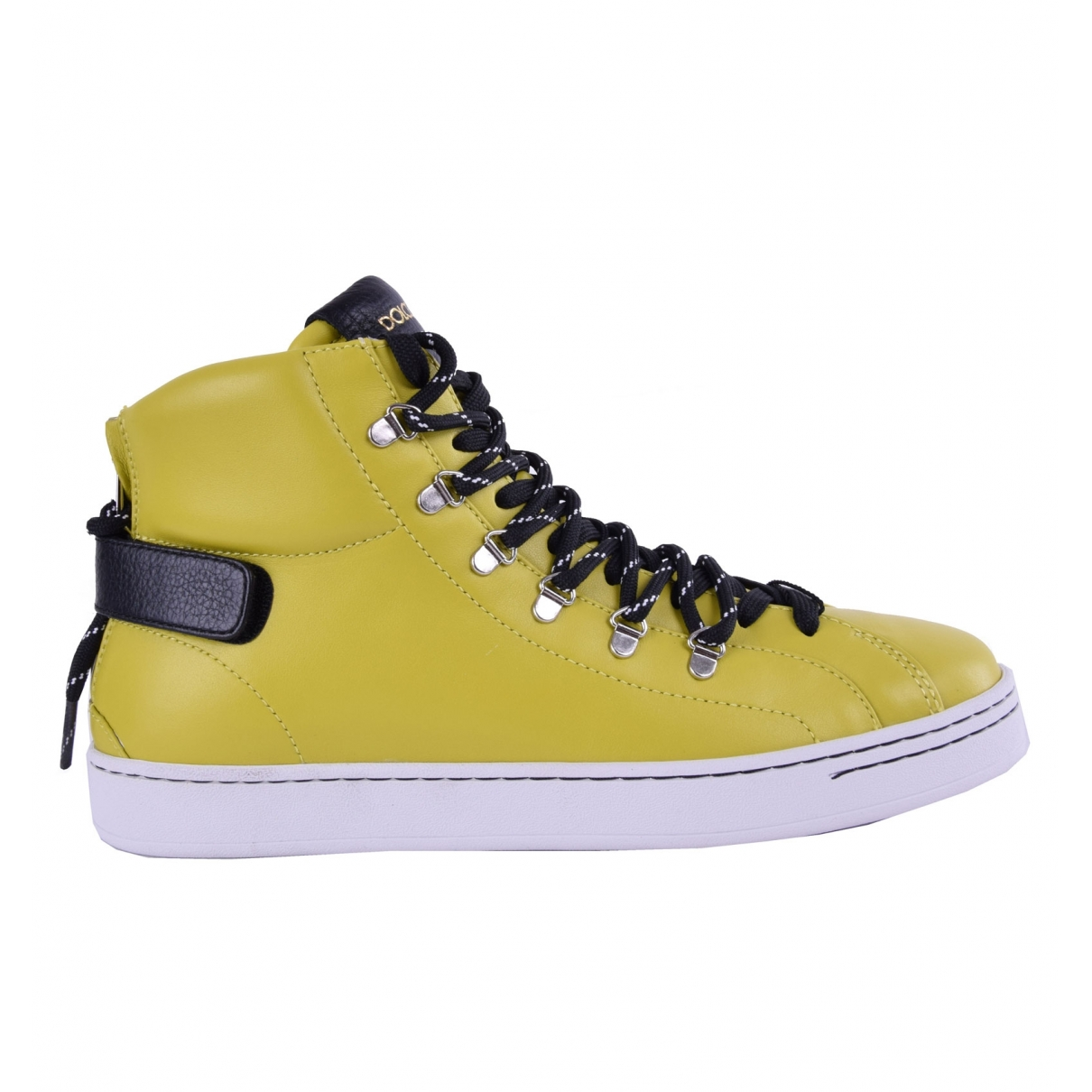 Dolce & Gabbana \N Yellow Leather Trainers for Men 40 EU