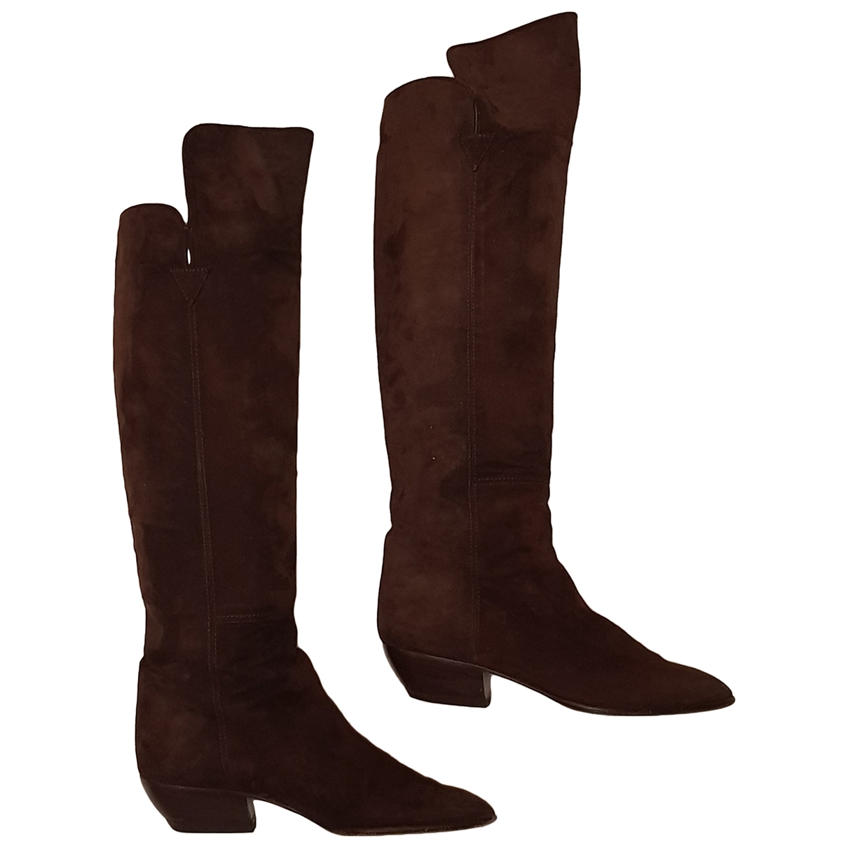 Walter Steiger \N Brown Suede Boots for Women 37.5 EU