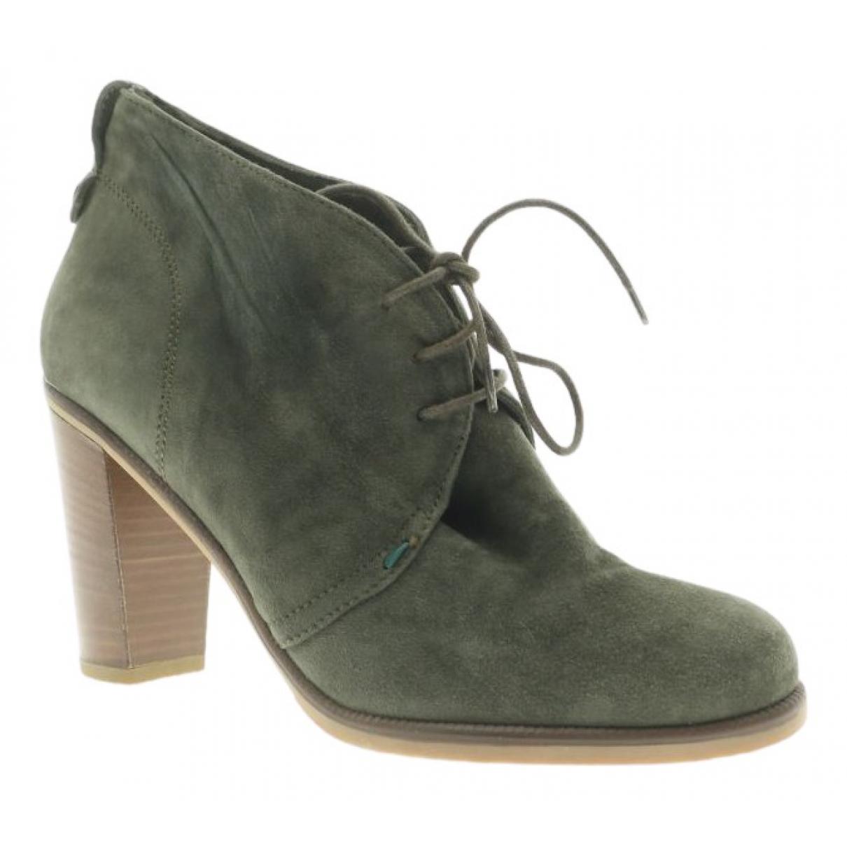 Gant - Boots   pour femme en fourrure - vert