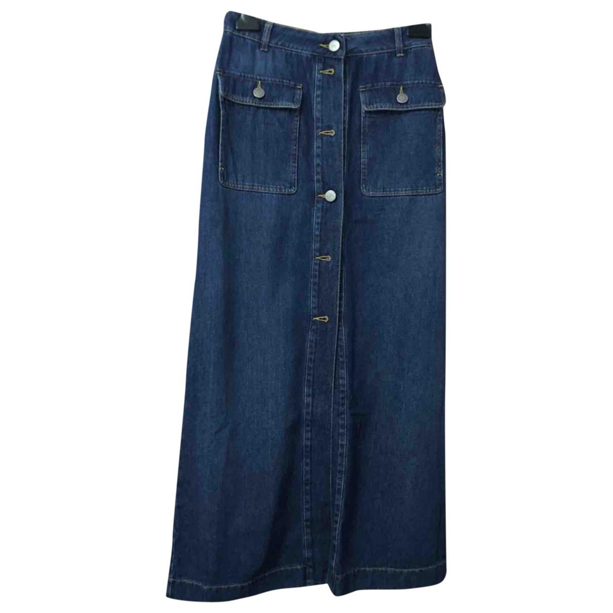 Twin Set \N Blue Denim - Jeans skirt for Women 42 IT