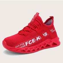 Maedchen Sneakers mit Buchstaben Grafik und weiter Passform