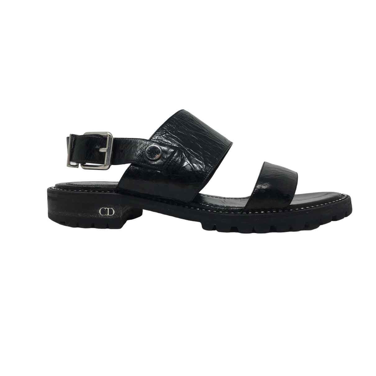 Dior \N Black Patent leather Sandals for Women 38.5 EU