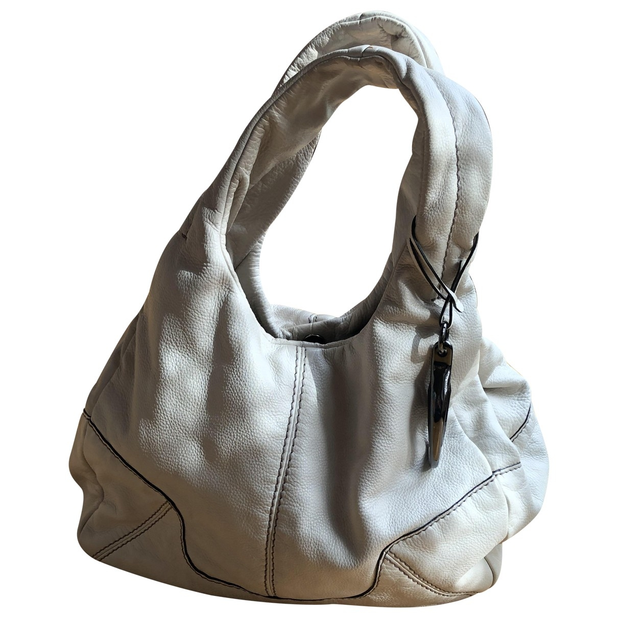 Fay \N White Leather handbag for Women \N