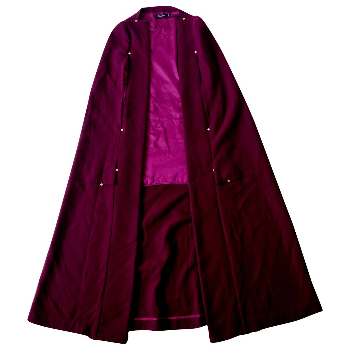 Marios Schwab \N Burgundy Wool coat for Women 8 UK