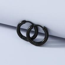 Guys Stainless Steel Hoop Earrings