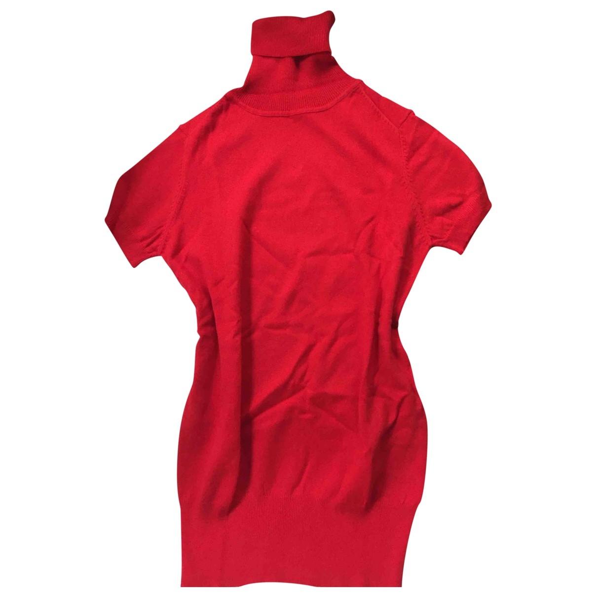 Zara \N Pullover in  Rot Baumwolle