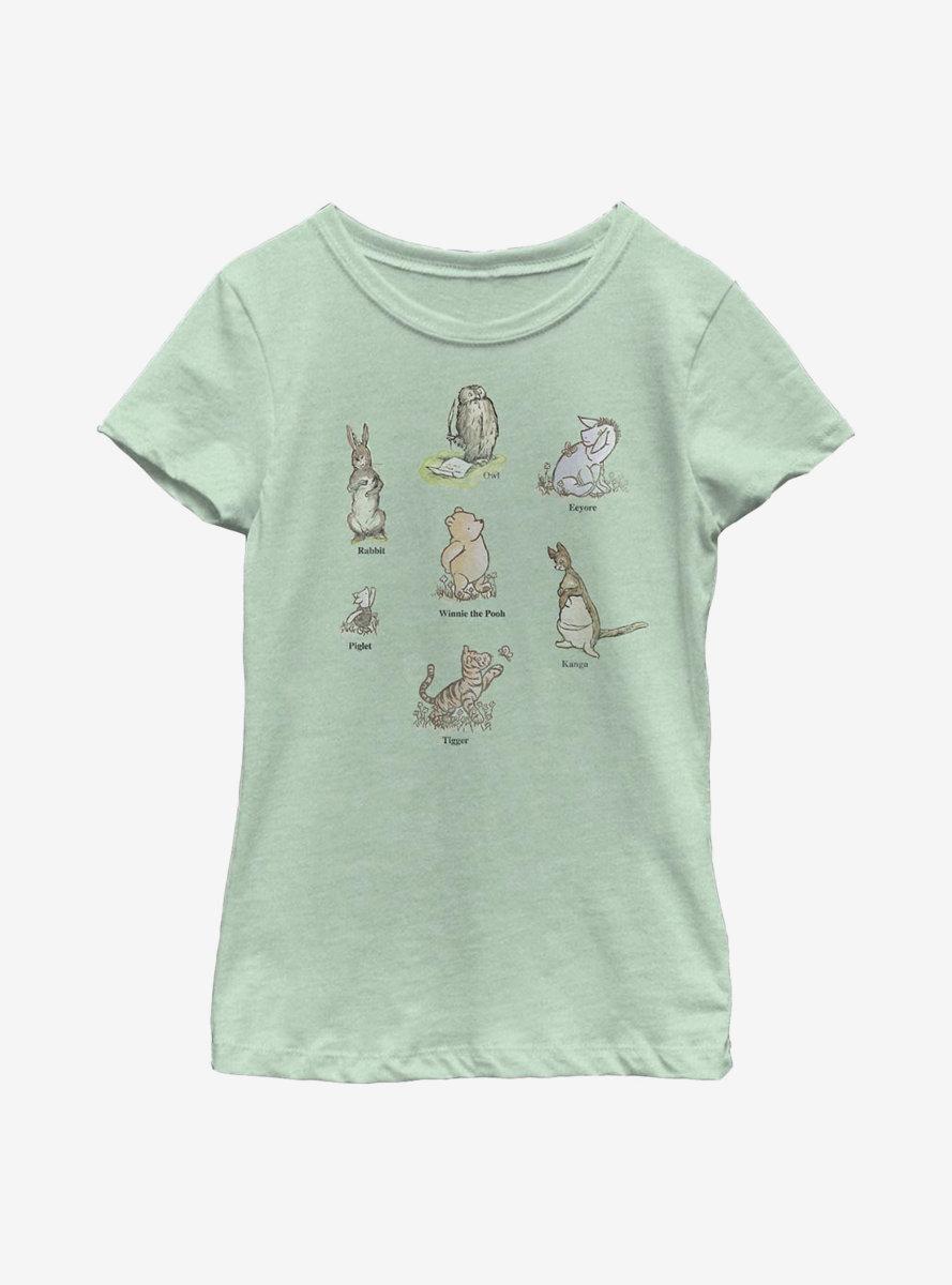 Disney Winnie The Pooh Poster Youth Girls T-Shirt