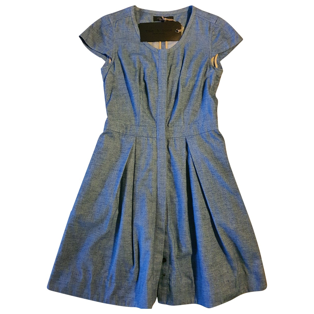 Rag & Bone - Robe   pour femme en coton - bleu