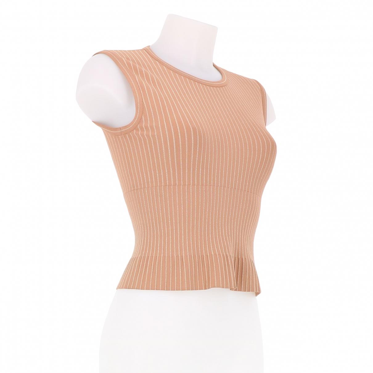 Alaia - Top   pour femme en coton - rose