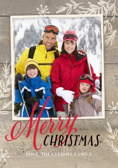 Christmas Photo Cards 5x7 Cards, Premium Cardstock 120lb with Elegant Corners, Card & Stationery -Rustic Twigs Christmas by Gartner