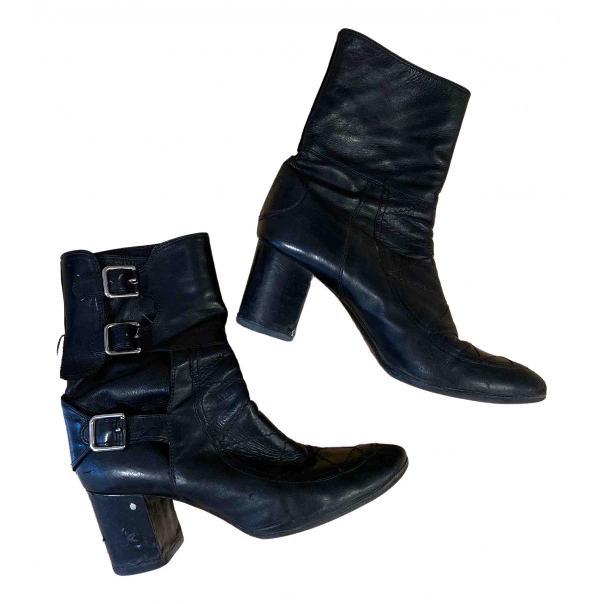 Laurence Dacade - Boots   pour femme en cuir - noir