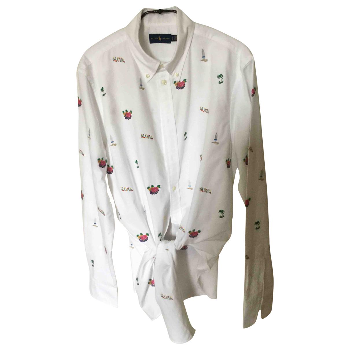 Ralph Lauren \N White Cotton  top for Women L International