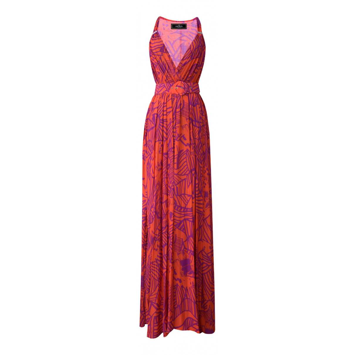 Non Signe / Unsigned \N Kleid in  Orange Viskose