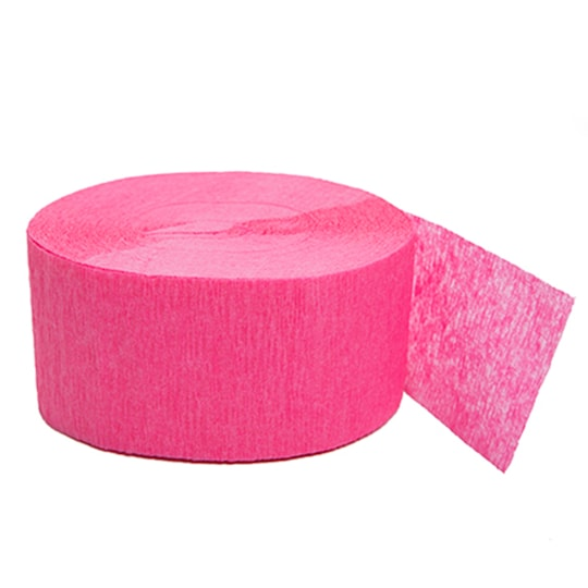 Crepe Paper Bright Pink Streamers, 81 Ft By Unique   Michaels®