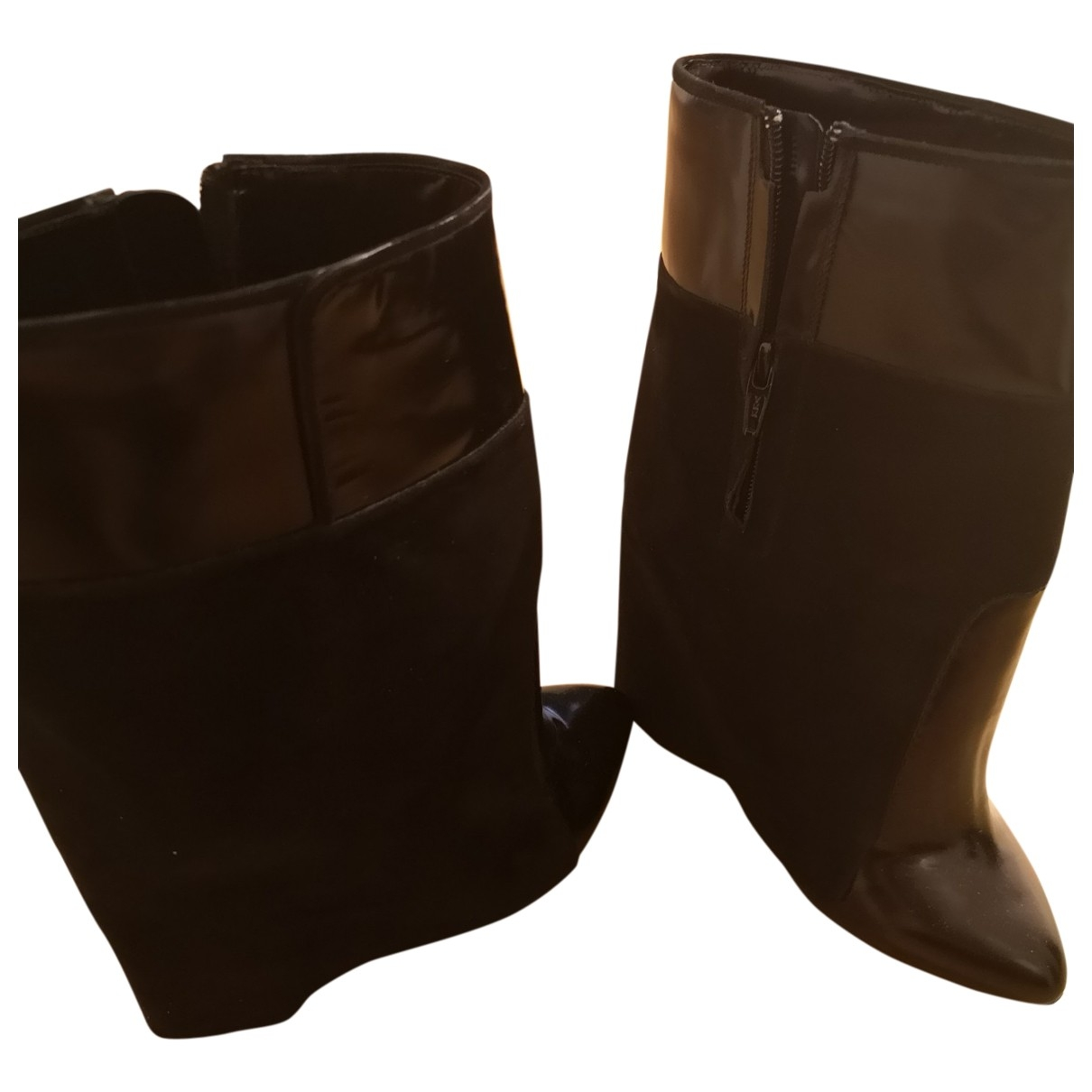 Givenchy - Bottes Shark pour femme en cuir - noir