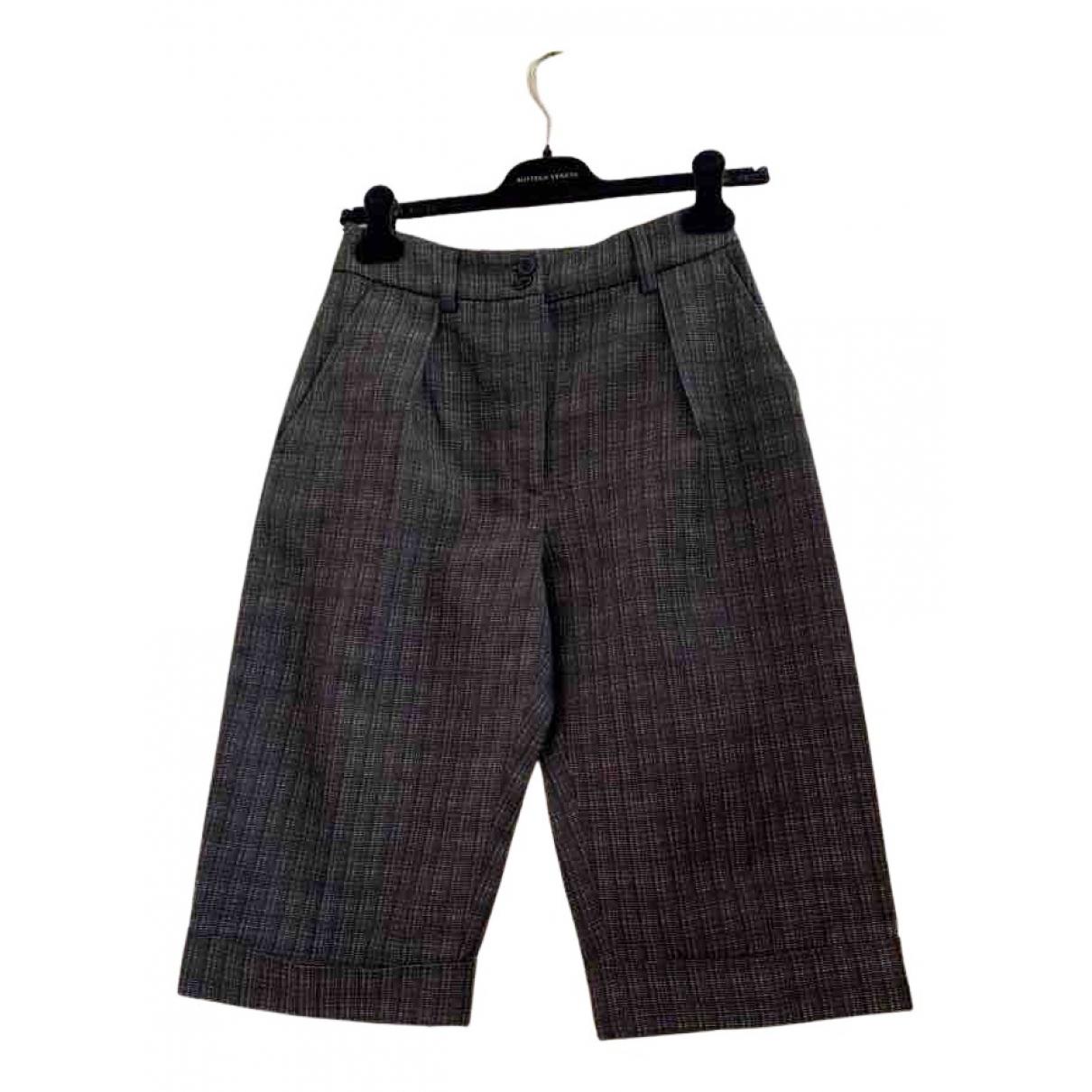 Dries Van Noten N Brown Wool Trousers for Women 36 FR