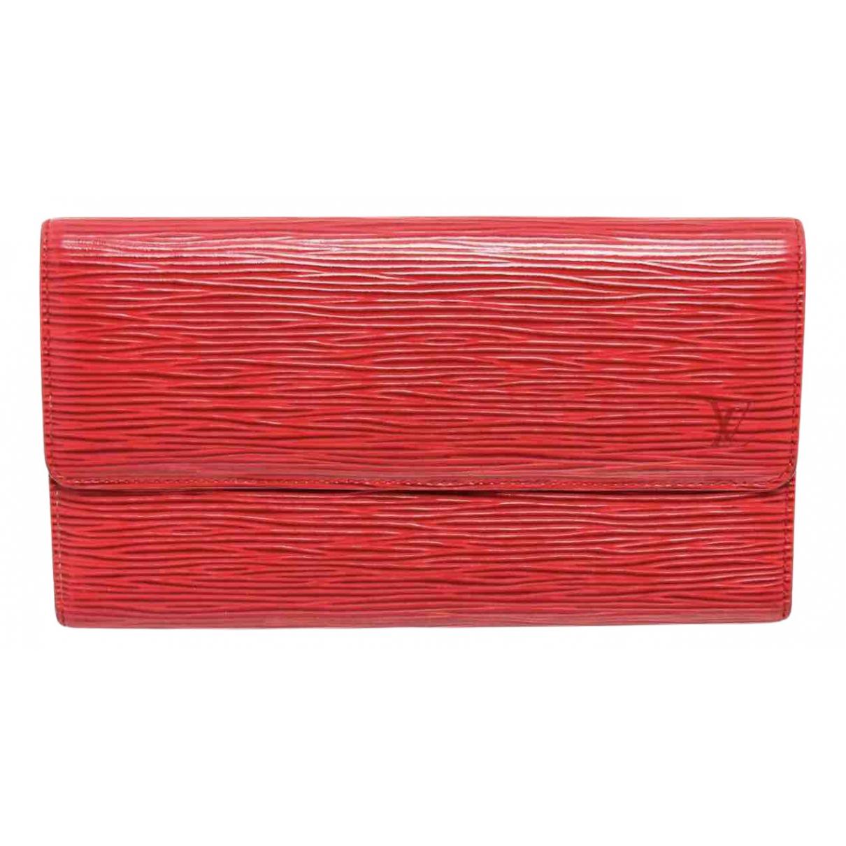 Louis Vuitton - Portefeuille Sarah pour femme en cuir - rouge