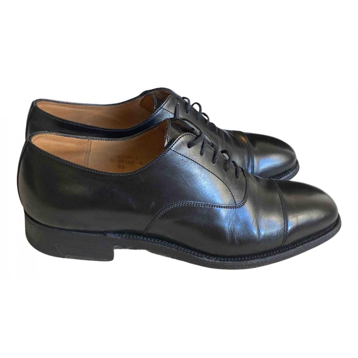 Jm Weston - Derbies   pour femme en cuir - noir
