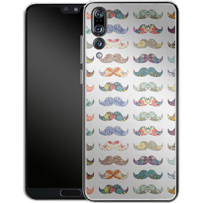 Huawei P20 Pro Silikon Handyhuelle - Mustache Mania von Bianca Green