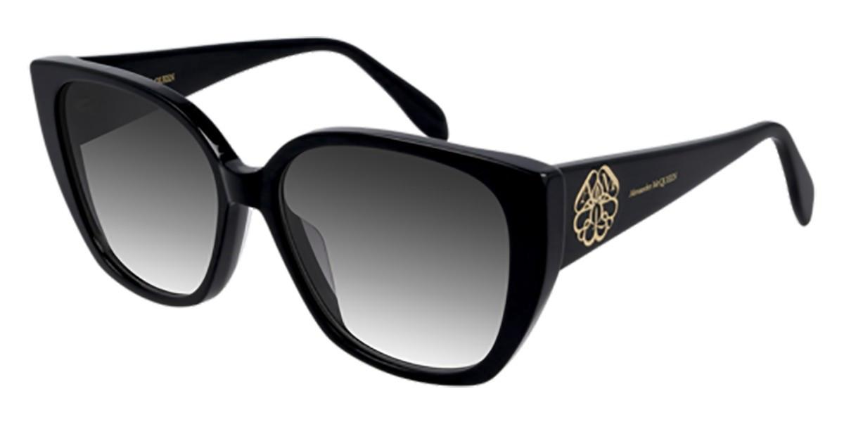 Alexander McQueen AM0284S 002 Women's Sunglasses Black Size 58 - Free RX Lenses