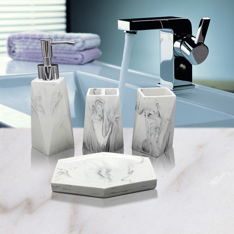 Ericdress European Style Bathroom Suit Accessories Soap Dispenser Cup Dish Toothbrush
