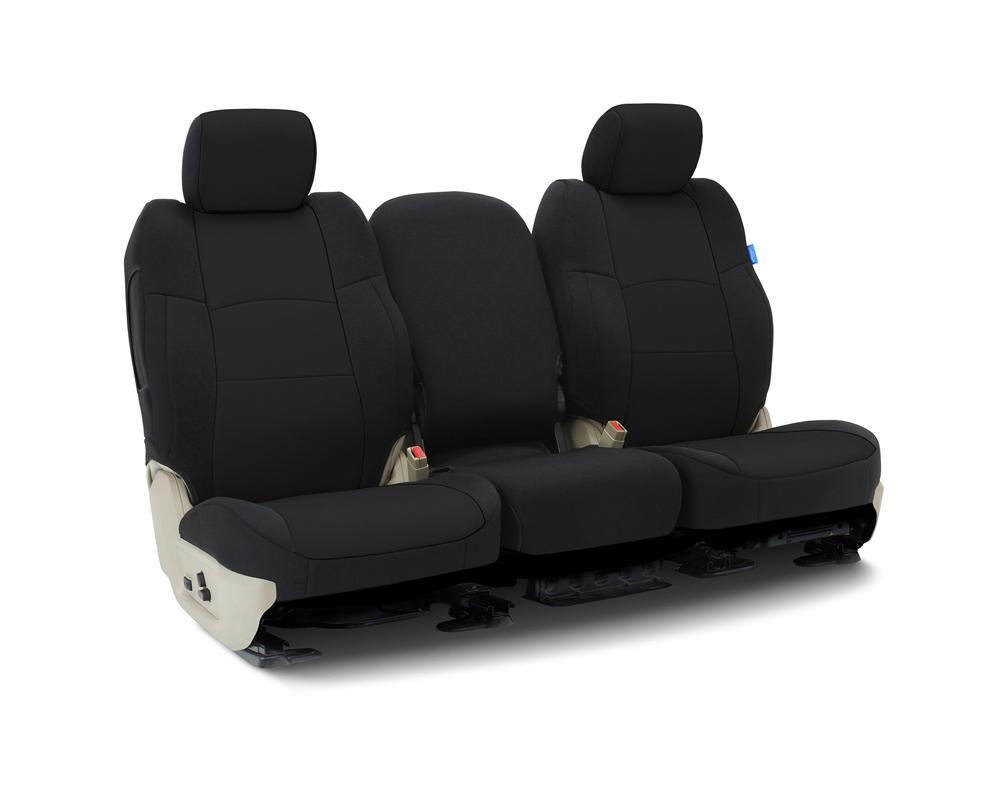 Coverking CSCF1FD10108 Custom Seat Covers 1 Row Neoprene Solid Black Front Ford Ranger 2019-2021