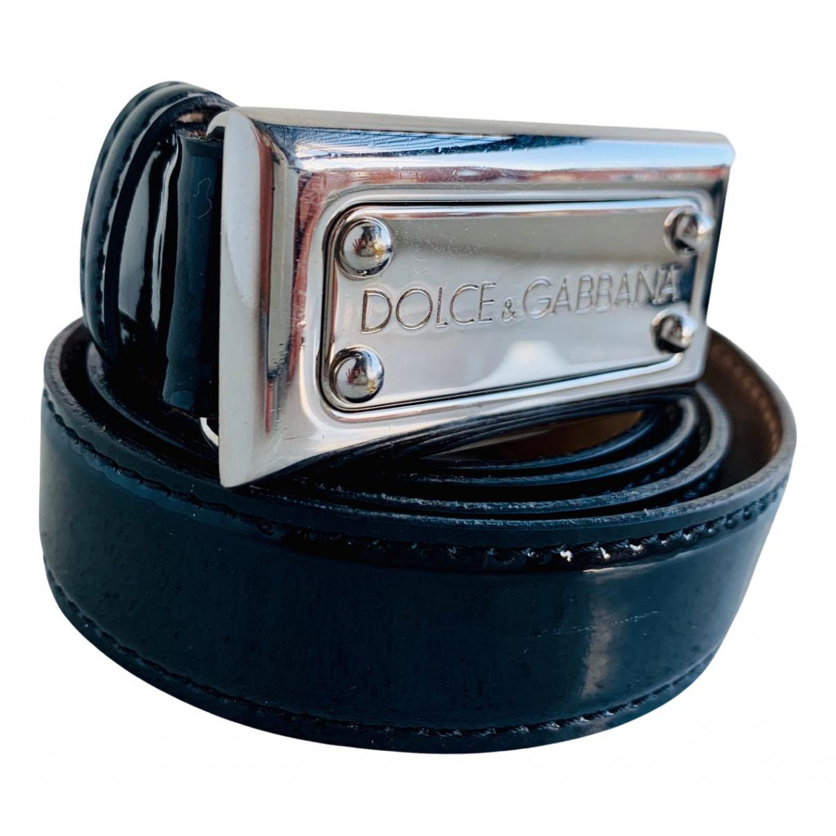 Dolce & Gabbana N Black Patent leather belt for Women 90 cm