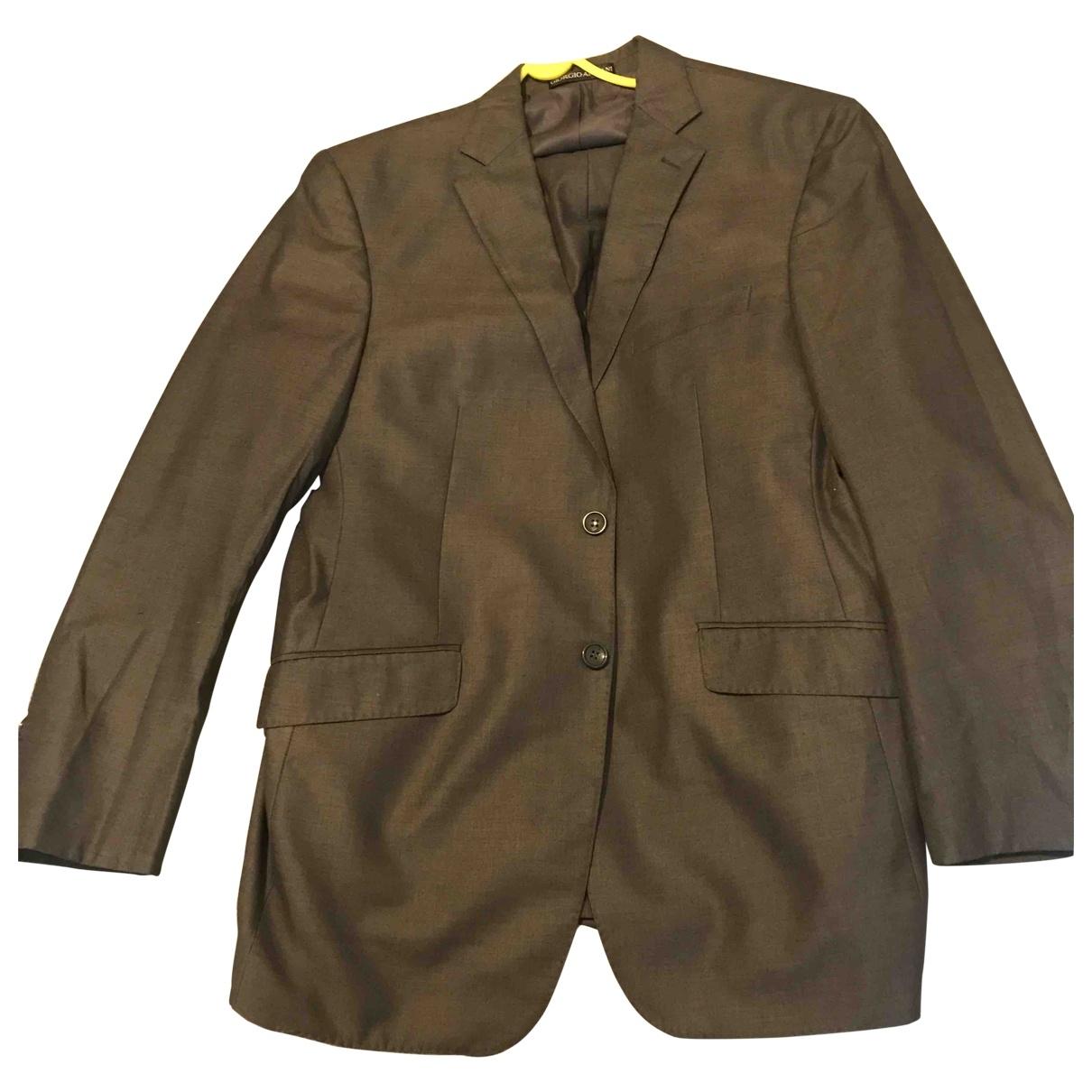 Giorgio Armani - Costumes   pour homme en laine - gris